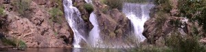 Water fall on BT River by WTP